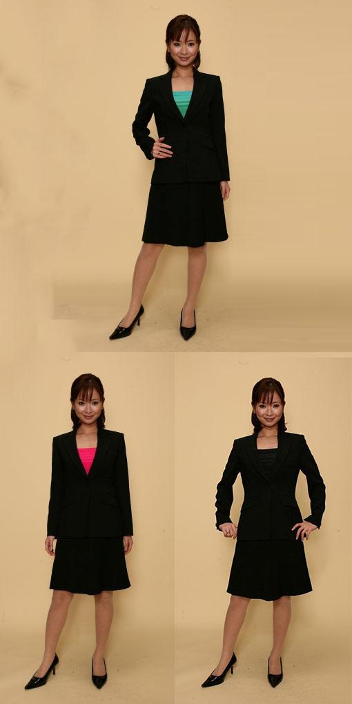 【3日以上】スカートスーツ:黒